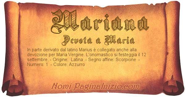 Nome Mariana