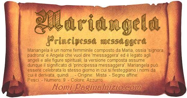 Nome Mariangela