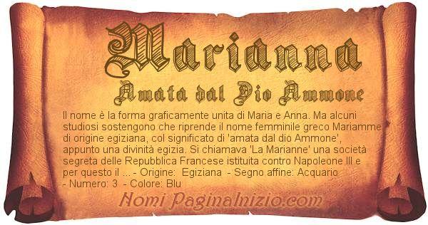 Nome Marianna