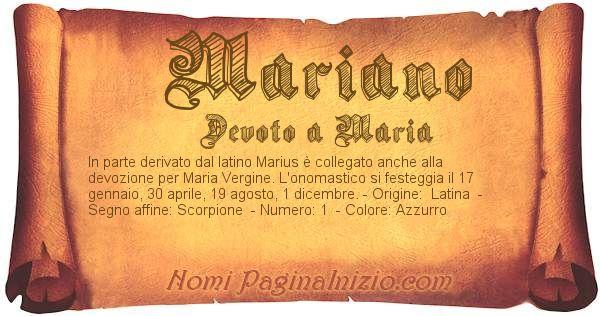 Nome Mariano