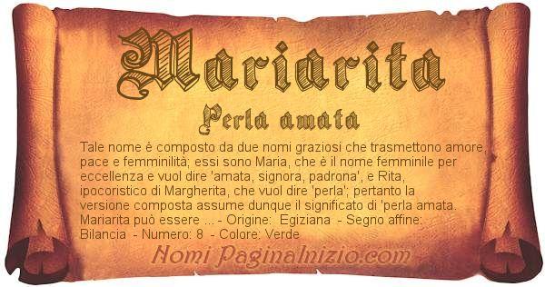 Nome Mariarita