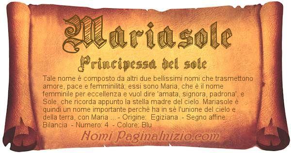 Nome Mariasole