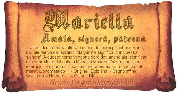 Nome Mariella