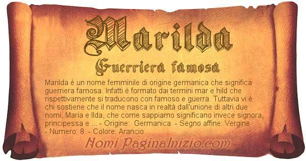 Nome Marilda