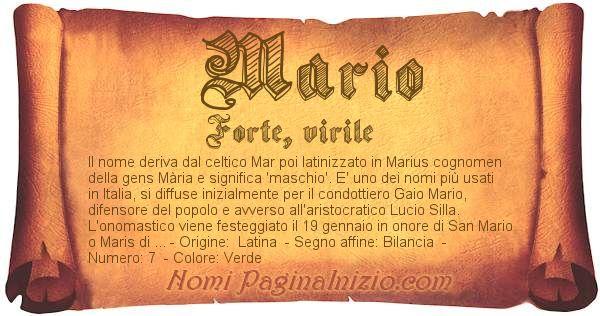 Nome Mario
