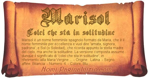 Nome Marisol