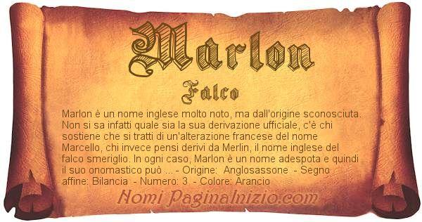 Significato Del Nome Marlon