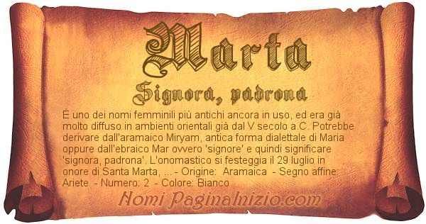 Nome Marta