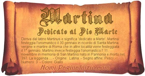 Nome Martina