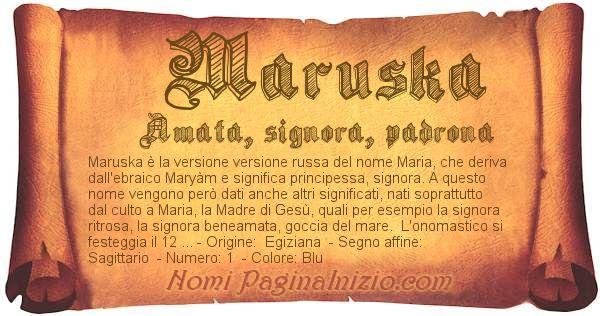 Nome Maruska