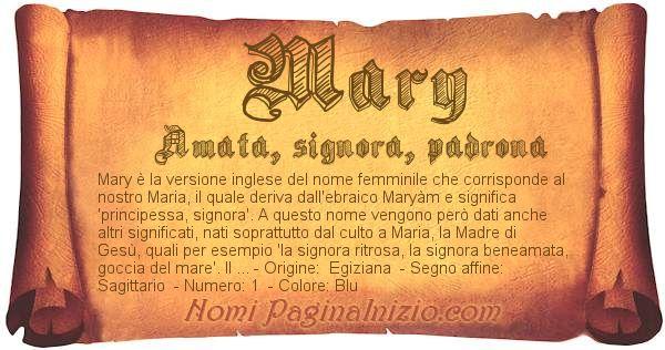 Nome Mary