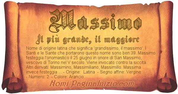 Nome Massimo