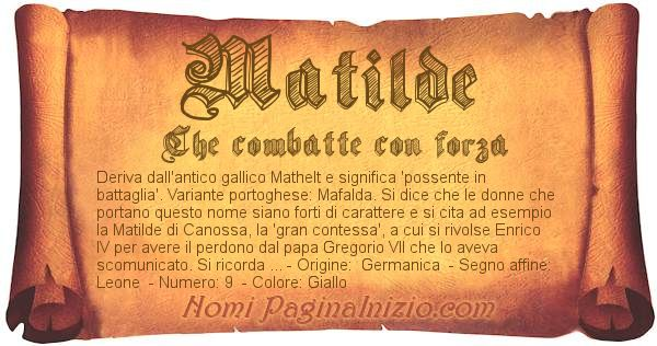 Nome Matilde