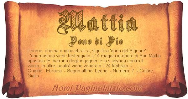 Nome Mattia