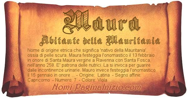 Nome Maura