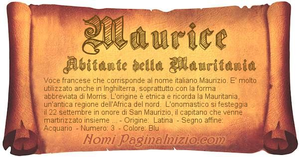 Nome Maurice