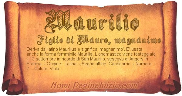 Nome Maurilio