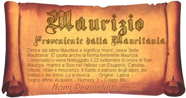 Nome Maurizio