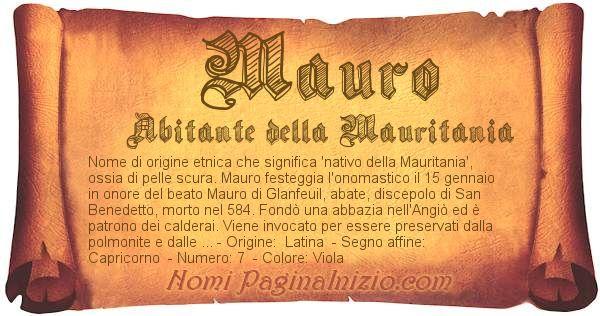 Nome Mauro