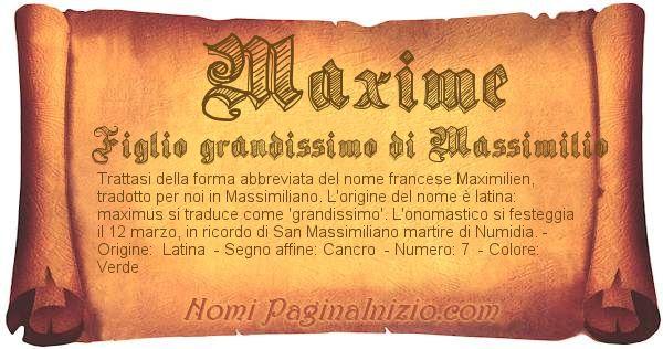 Nome Maxime