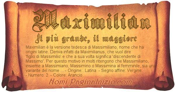 Nome Maximilian