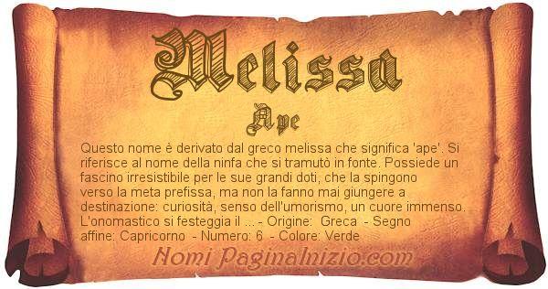 Nome Melissa