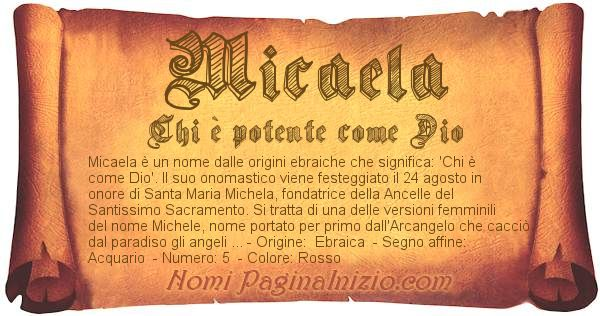 Nome Micaela