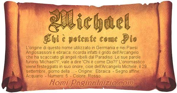 Nome Michael