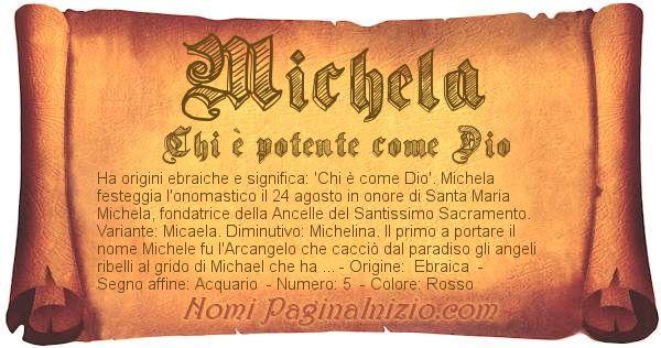 Nome Michela