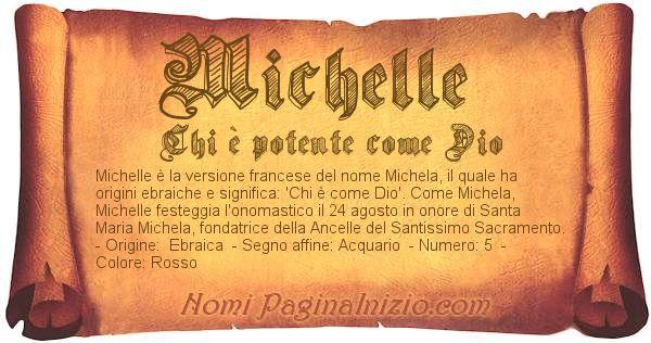 Nome Michelle