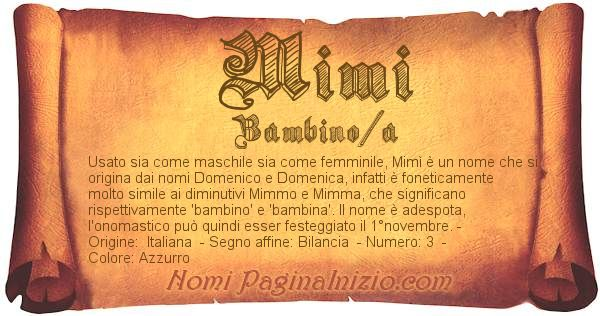 Nome Mimi
