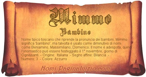 Nome Mimmo