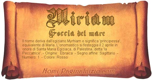 Nome Miriam