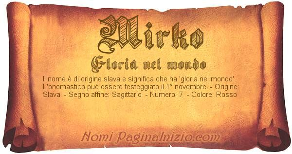 Nome Mirko