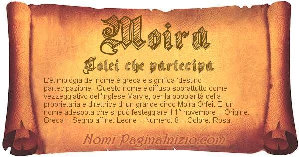 Nome Moira