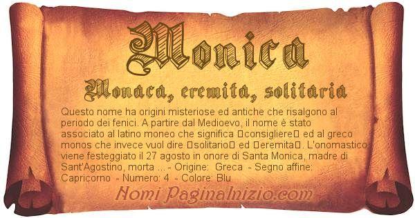 Nome Monica