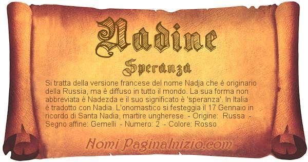 Nome Nadine
