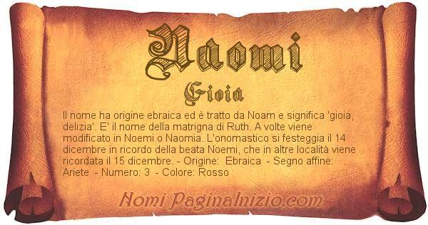 Nome Naomi