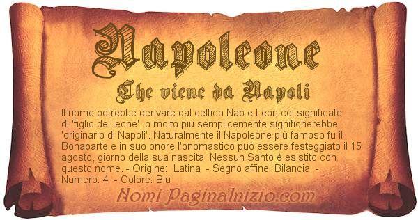 Nome Napoleone
