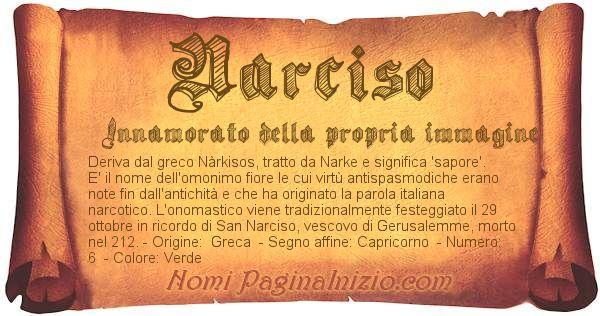 Nome Narciso