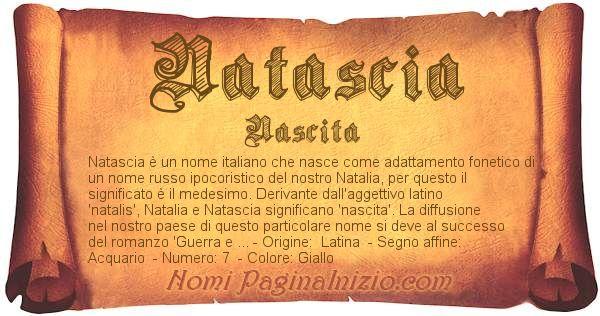 Nome Natascia