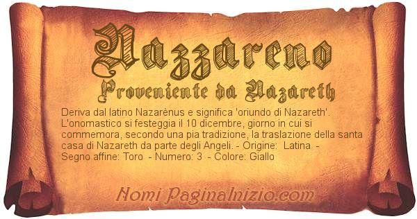 Nome Nazzareno