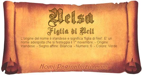 Nome Nelsa