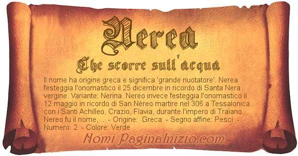 Nome Nerea