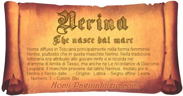 Nome Nerina