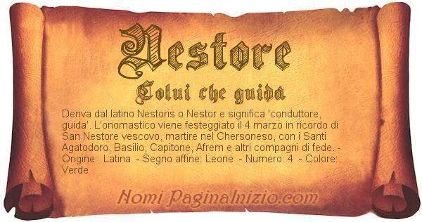 Nome Nestore