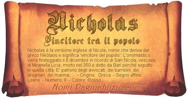 Nome Nicholas
