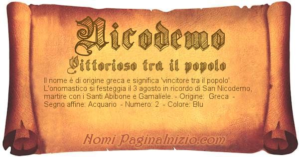 Nome Nicodemo