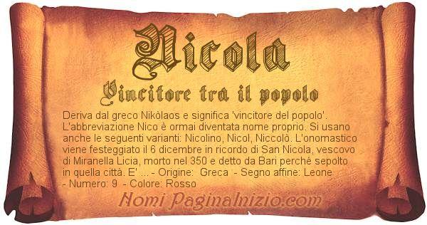 Pergamena col nome https://www.paginainizio.com/nomi/imgnomi/nicola.jpg
