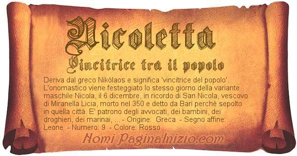 Nome Nicoletta